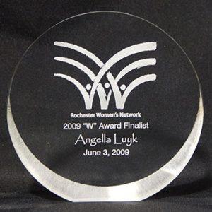 "Rochester Women's Network ""W"" Award Finalist 2009"